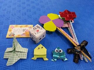 折り紙と手紙